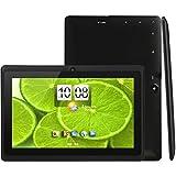 iNOVA EX756 7 Tablet PC- Quad Core @ Up To 1.2GHz, ARM Cortex-A9, 512MB DDR3, 8GB ROM Nand Flash, MicroSD Slot (32GB), 800x480 Pixels, 16:9, 5 Point Capacitive Multi-Touch Screen, WiFi, Supports 3G Dongle, G Sensor, 2.0MP Dual Camera, MicroSD Slot, USB OTG, Accessory Kit (BLACK)