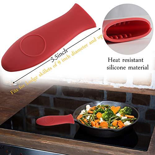 e8650c15c72b Anpatio Pan Scraper Set Plastic Pot Scraper Silicone Hot Handle Holder Cover  for Kitchen Cast Iron