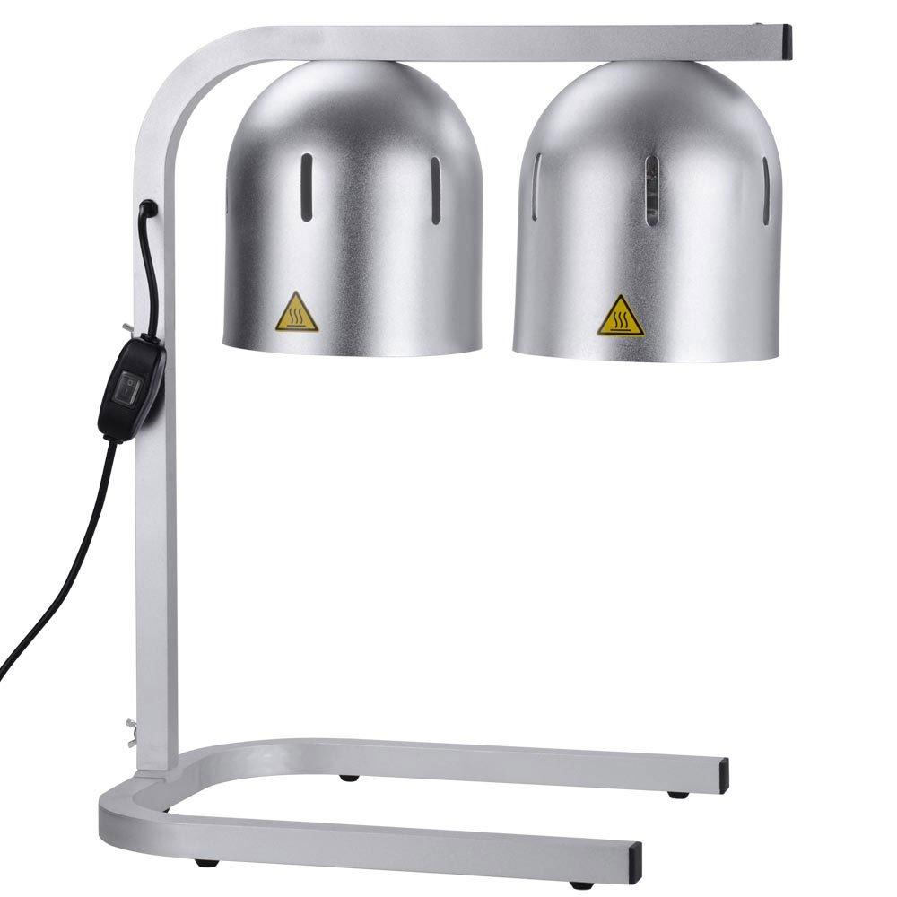 MegaBrand Portable Countertop 2 Bulbs Food Heat Lamps Warmer 110V