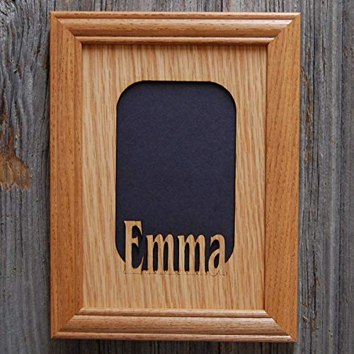5x7 Personalized Name Picture Frame Wooden - Holds 4x6 Photo
