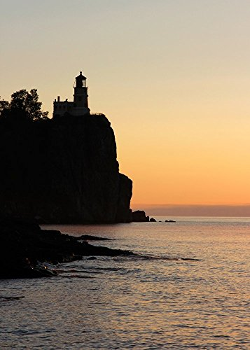 - Split Rock Lighthouse art photo print, photo paper or canvas, 5x7 to 30x45 inches large wall decor