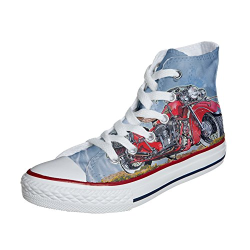 mys Converse Customized Adulte - Chaussures Coutume (Produit Artisanal) Indiana Motor ChJbDib
