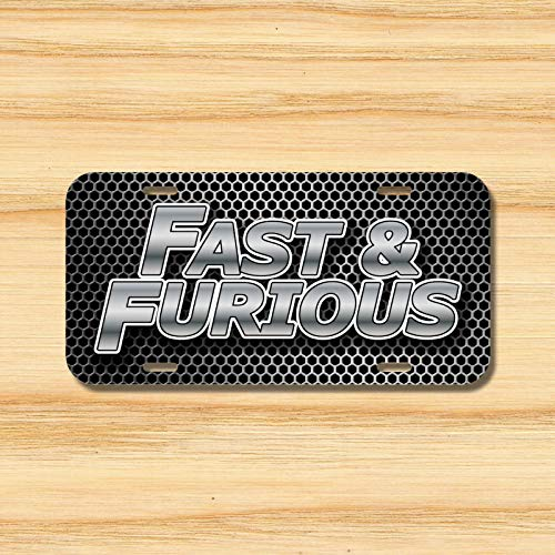 Yilooom Fast Furious License Plate Vehicle Auto Tag Tuner Import Drift Racing Novelty Accessories License Plate Art