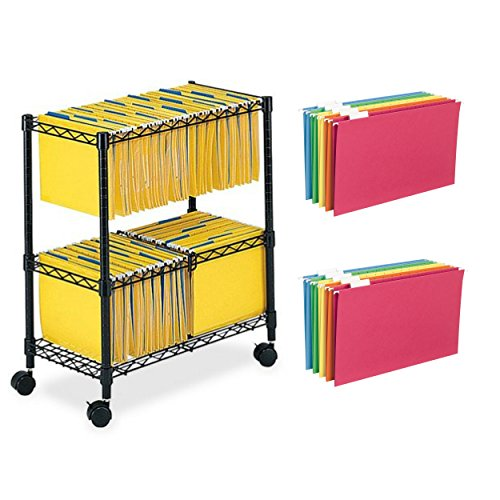 3 Piece Replacement Pick - Safc0 2-Tier Rolling File Cart With 25-Piece Legal Size Colored Hanging Folders