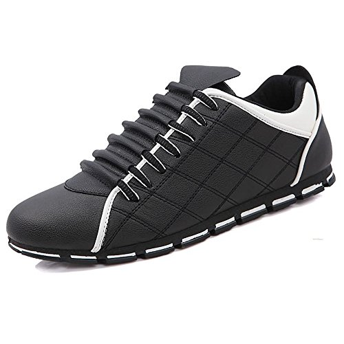 Heel Ginnastica Light Sports da Uomo Sneaker Scarpe Super Bianco Cricket Lace UP Flat da Leisure Scarpe da Nero XqwxA5x0