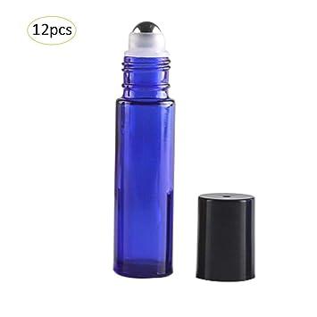 Botellas de rodillos de vidrio 12pcs Contenedor recargable ...