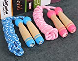 TIENO Toy Jump Rope for Kids Wooden Handle