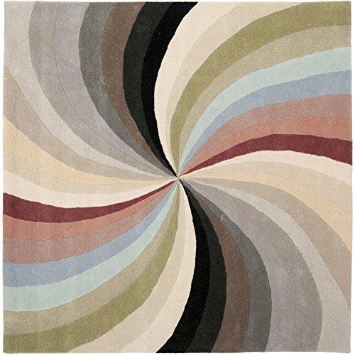 Safavieh Soho Collection SOH783A Handmade Abstract Pinwheel Multicolored Premium Wool Square Area Rug (6' ()