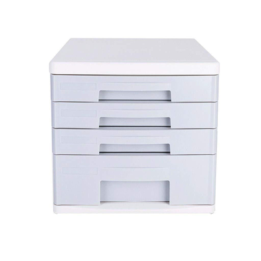 Bxwjg Desktop File Cabinet, 4-Layer Drawer Organization for Storing Documents/Office Supplies, Green Plastic 10.6in×13.8in×10in by Bxwjg
