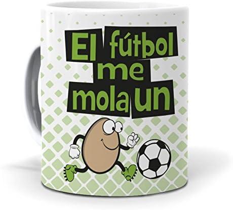 mundohuevo Taza El fútbol me Mola un Huevo: Amazon.es: Hogar
