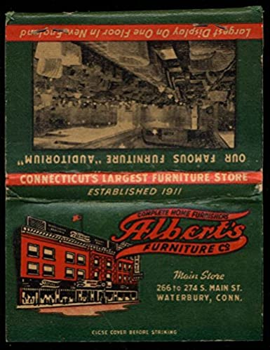 Alberts Furniture Co 266 274 S Main St Waterbury Ct Matchbook At
