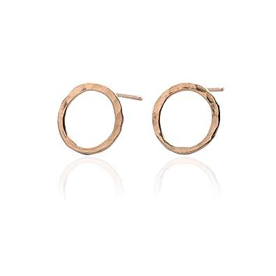 Sheenashona Jewellery Graduation Gift 9ct Gold Circle Stud