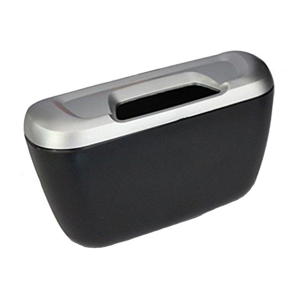 Nero + Argento YOOKII Mini Pattumiera per Auto Cestino Posacenere per Auto 18 12 6 cm