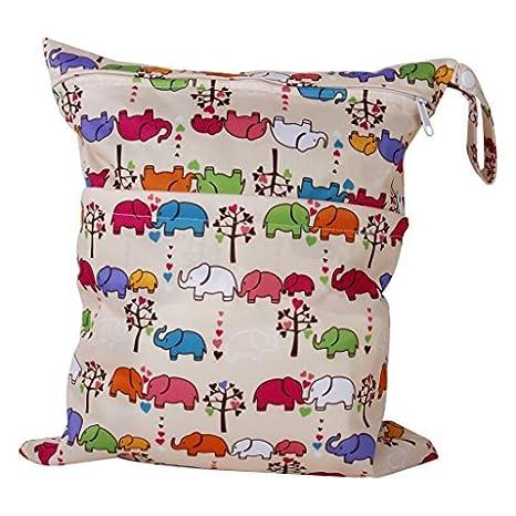 2-ZIP Bolsa lavable Pañal Pañales de tela bebé patrón de perro