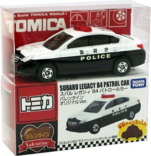 1/60 スバル レガシィ B4 パトロールカー バレンタインオリジナルVer. #110(ホワイト×ブラック) 「トミカ付き トミカチョコ」