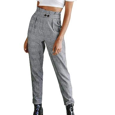 LUCKDE Damen Hosen, Damenhosen Freizeithose Strandhose Print