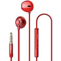 Baseus Encok H06 3.5mm Kulakiçi Mikrofonlu Kulaklık,Kırmızı