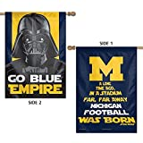 Cheap WinCraft NCAA University of Michigan 15839215 2 Sided Vertical Flag, 28″ x 40″