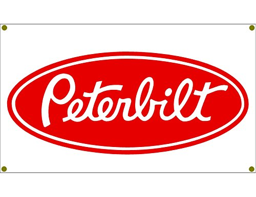 Signs By Woody Peterbilt Red Garage Banner Man Cave Banner Diesel Hot Rod Rat Rod - Woody Tin Sign