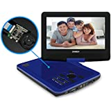 SYNAGY 10.1inch Portable DVD Player with Screen Portable CD Player with SD Card Slot for Cars Kids Adults & Seniors (Blue)