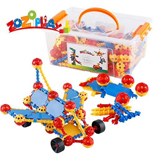 ZoZoplay STEM Learning Building Toys 160 Piece Creative Construction Engineering Fun Educational Toy Set for Boys and Girls Ages 3+ Top Blocks Gift Game Kit