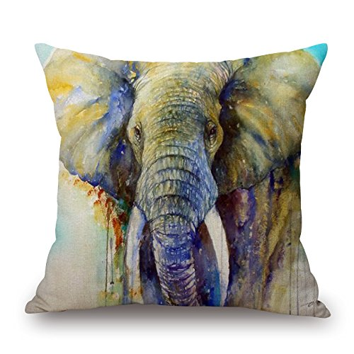 Artistdecor 18 X 18 Inches / 45 By 45 Cm Slimmingpiggy Comfortable Bedding Holy Elephant 18x18 Inch Pillow Case Pillow Shams,both Sides Is Fit For Kids,her,dining Room,gril Friend,teens Girls