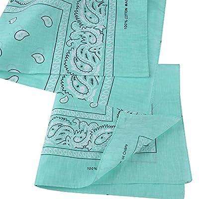 Alotpower Bandanas Set 100% Cotton Headbands Cowboy Bandana for Men and Women