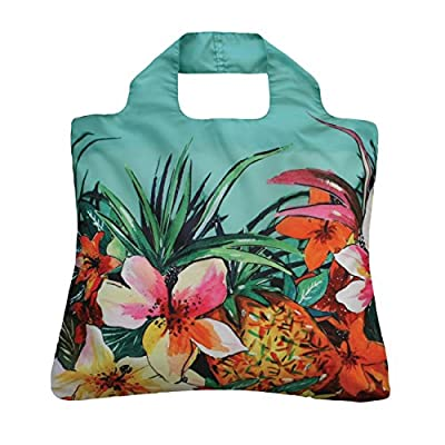 Envirosax Tropics Reusable Shopping Bag, Tropical Garden, Multicolored, Set of 3
