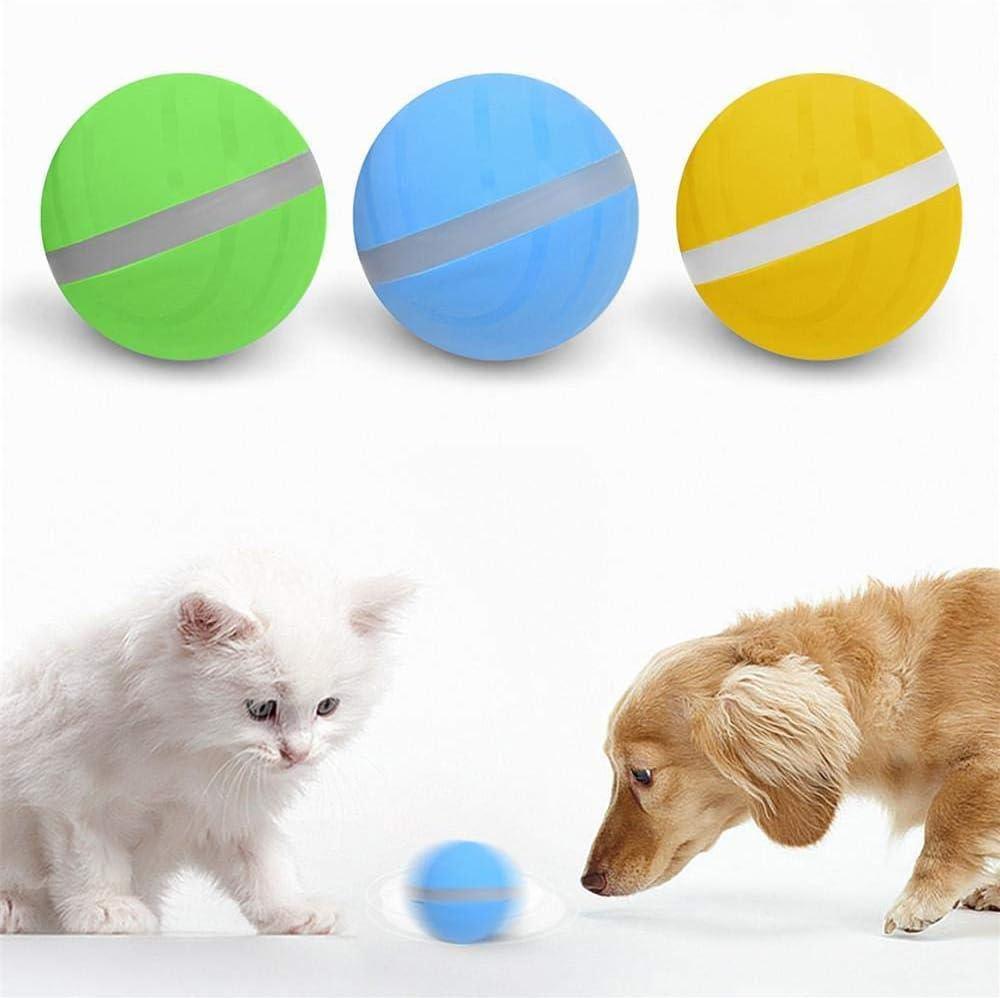 LAYOPO Pelota de salto para mascotas, pelota de juguete eléctrica ...