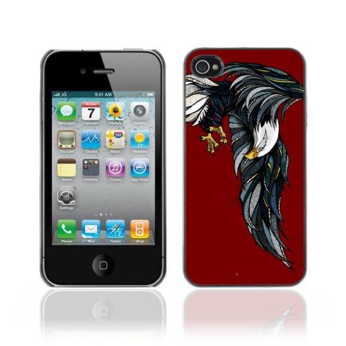 Designer Depo Etui de protection rigide pour Apple iPhone 4 4S / Awesome Bald Eagle Painting