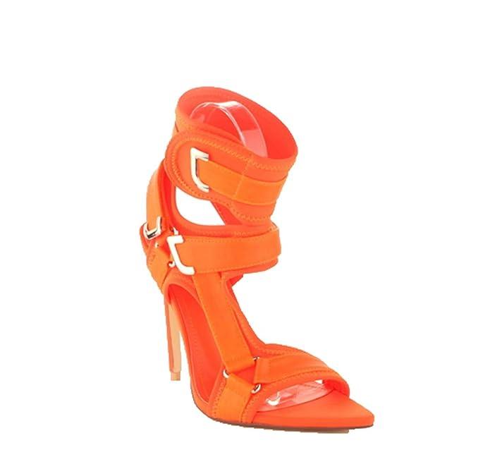 9fc524007a7 Amazon.com  Cape Robbin Dive in Multi Neoprene Strappy Colorful High Heel  Single Sole Sandal  Shoes