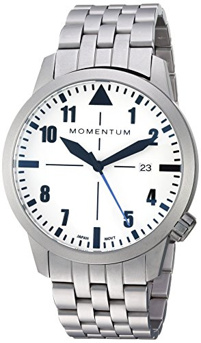 Men's Sports Watch | Fieldwalker Automatic Leather Adventure Watch by Momentum | Stainless Steel Watches for Men | Analog Watch with Automatic Japanese Movement | Water Resistant (200M/660FT) Classic Watch - Lume / 1M-SN92LS0