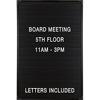 balt essentials black letter board with letters 12x18