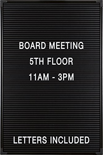 - Balt Essentials Black Letter Board with Letters 12