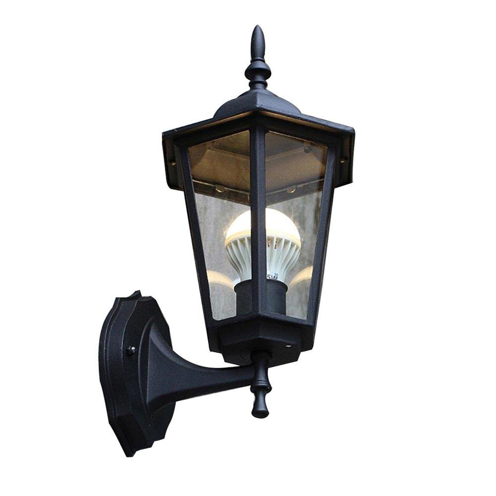 HTZ Retro-Outdoor-Wandleuchte mit wasserdichten Funktion Außenbeleuchtung Gartenlampe American Balkon Treppe Außenwandleuchte E27 Größe  20X37 cm A++ (Farbe   A)