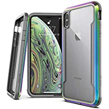 """X-Doria Defense Shield Series, iPhone Xs Max - Military Grade Drop Tested, Anodized Aluminum, TPU, and Polycarbonate Protective Case for Apple iPhone Xs Max, 6.5"""" inch Screen (Iridescent)"""