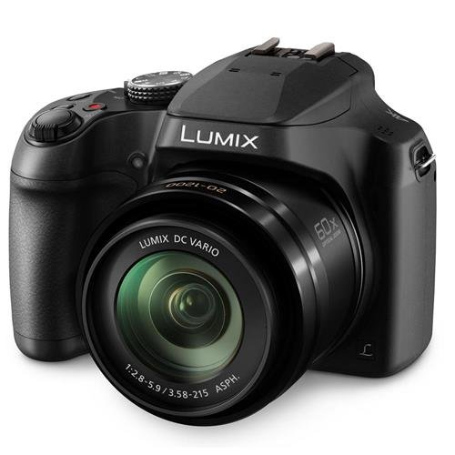 Digital Point And Shoot Film Camera - PANASONIC LUMIX FZ80 4K Digital Camera, 18.1 Megapixel Video Camera, 60X Zoom DC VARIO 20-1200mm Lens, F2.8-5.9 Aperture, POWER O.I.S. Stabilization, Touch Enabled 3-Inch LCD, Wi-Fi, DC-FZ80K (Black)