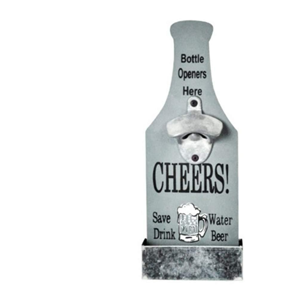 wandmontage Pastoralen Vintage Stil wie EIN Bierflasche Wand-Flaschen/öffner Hebeldosen/öffner Bier-Stil, Grau Surenhap Flaschen/öffner