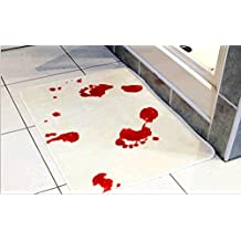 Scare Your Friends Blood Bath Bath Mat Bloody Bathroom Mat Bloody Footprints Rug with Anti-slip backing, 23.62'' x 15.75''