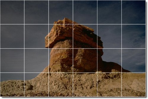 Deserts Photo Wall Tile Mural 26. 32x48 Inches Using (24) 8x8 ceramic tiles.