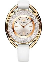 Ladies Swarovski Crystalline Oval White Tone Watch 5230946