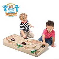 Simplay3 Carry and Go Durable Track Table for Toy Cars, Trucks, and Trains
