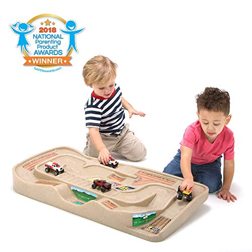 Simplay3 Carry and Go Track Table for Toy Cars, Trucks, and Trains (Car Ramp Toy)