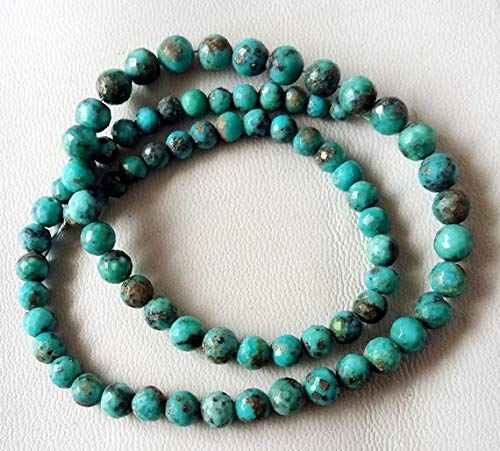 ty Turquoise Faceted Round & Balls Beads,Turquoise Beads,4 mm to 5 mm 15