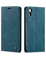 Freezon Case for iPhone XR, Elegant Retro Leather with ID Credit Card Slot Holder Flip Cover Stand Magnetic Closure Case for iPhone XR