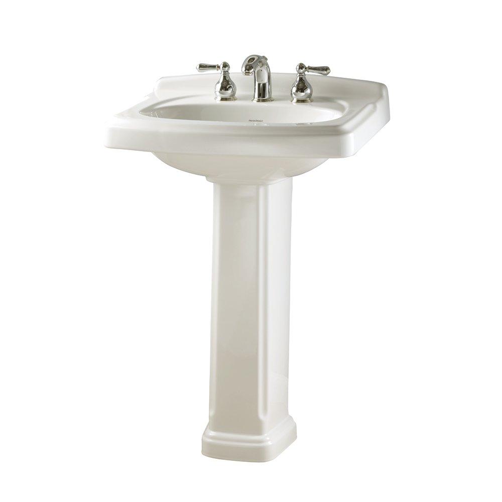 Bathroom pedestal sinks - American Standard 0555 801 020 Townsend Pedestal Bathroom Sink With 8 Inch Faucet Spacing