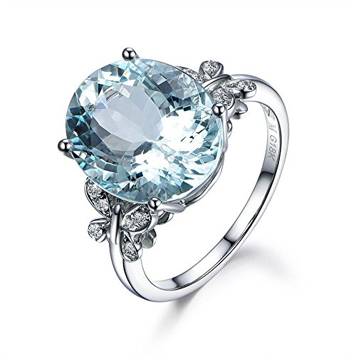 A.Minnymin 18KT White Gold Natural Oval Cut Aquamarine Butterfly Zircon Ring Women Jewelry (7)