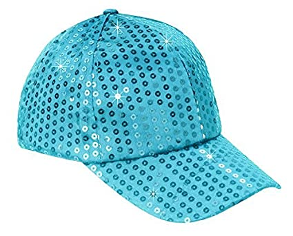 71045d38 The Paragon Baseball Cap for Women - Sequin Hat, Adjustable Strap Ball Cap  (Blue
