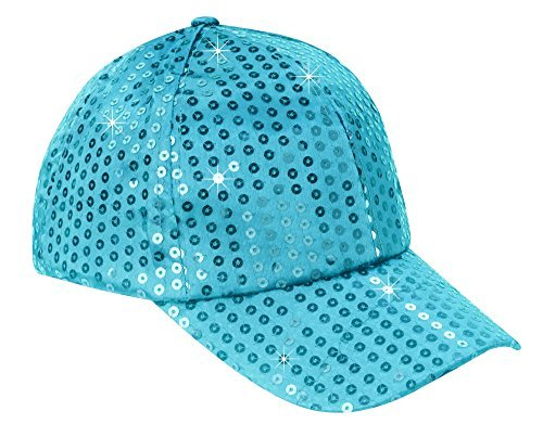 The Paragon Baseball Cap for Women - Sequin Hat, Adjustable Strap Ball Cap (Blue)]()