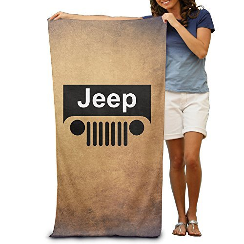 Quick Dry Jeep Grill Logo Beach Blanket -multifunctional Blanket:Suit For Swimming,backpacking,sports,camping,picnic Etc - Large Microfiber Travel Towel - 80cm130cm